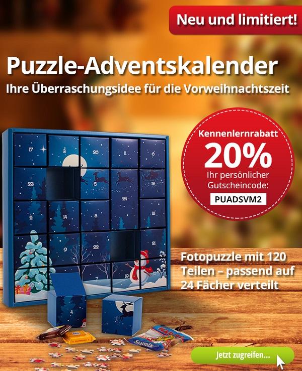 Puzzle-Adventskalender mit 120 Teilen